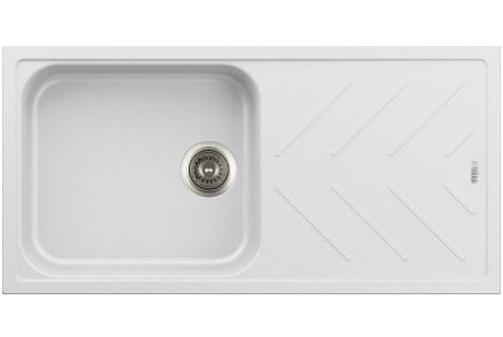 Quartz Single Bowl Sink With Drainboard