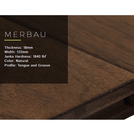 Merbau Solid wood flooring 18mm.